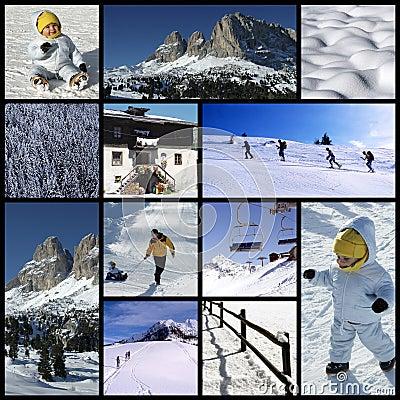 De collage van alpen