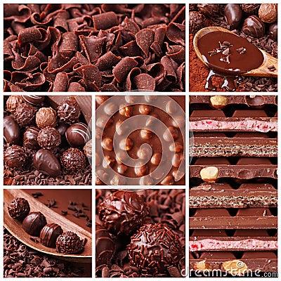 De collage van de chocolade