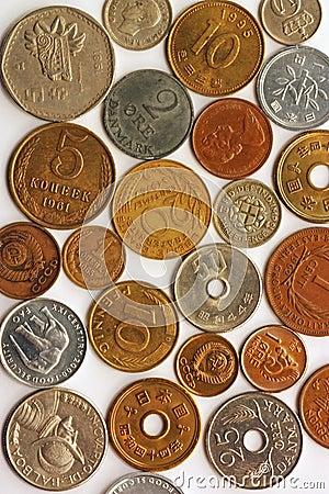 De collage van het muntstuk