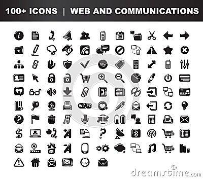 De Communicatie pictogrammen van het Web &