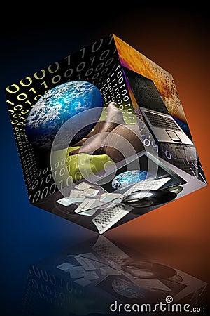 De computer van de bedrijfs marketing identiteitskaart