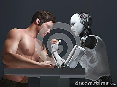 De concurrentie van de menselijk-robot