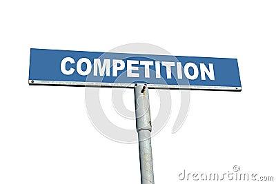 De concurrentie voorziet van wegwijzers