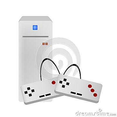 De consolevector van het videospelletje