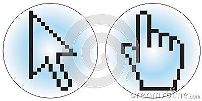 De curseurpictogrammen van de computer