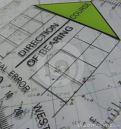 De cursus van de navigatie