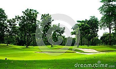 De cursusmening van het golf