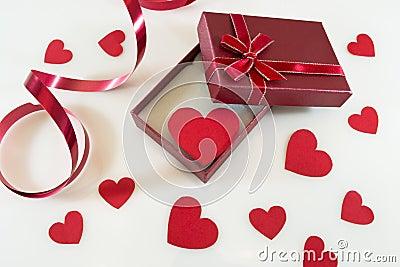 De daggift van de valentijnskaart