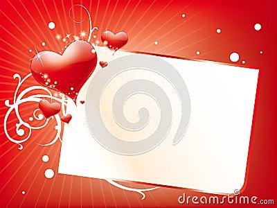 De dagkaart van valentijnskaarten