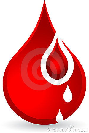 De dalingen van het bloed