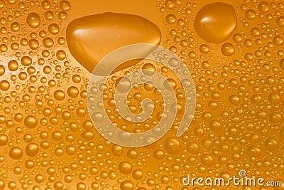 De dalingen van het water op glas