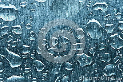 De dalingen van het water op metaal