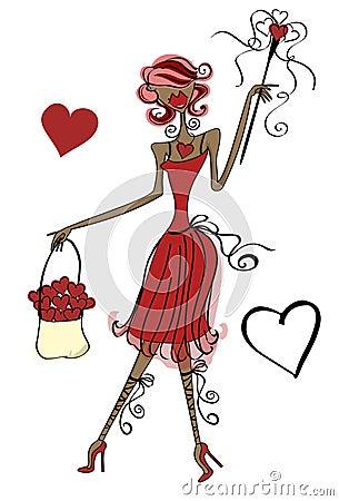 De Dame van de liefde