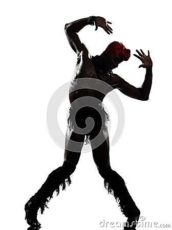 De danser van de mens het dansen