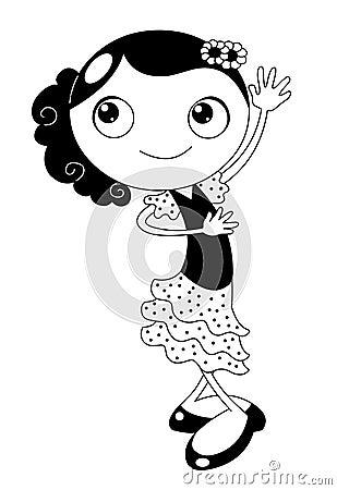 De danser van het flamenco