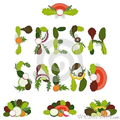 De decoratie van de salade