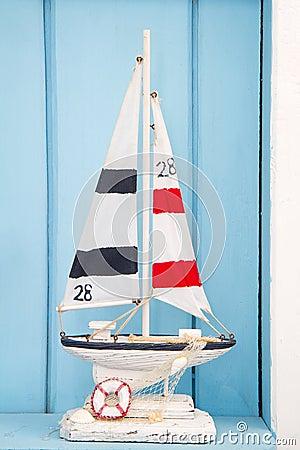 De decoratie van de zeilboot royalty vrije stock foto 39 s for Decoratie zeilboot