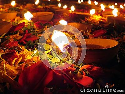 De Decoratie van Diwali