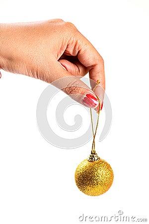 De decoratiebal van Kerstmis