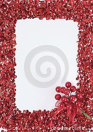 De decoratieframe van Kerstmis