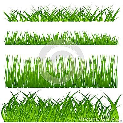 De decoratiereeks van het gras