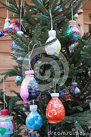 De Decoratieve Ballen van Kerstmis