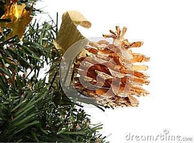 De decoratieve kegel van Kerstmis
