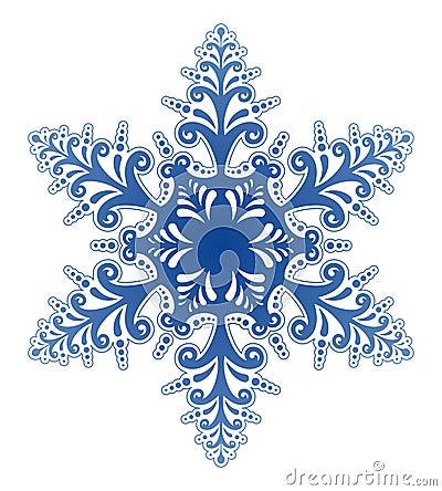 De decoratieve Vector van het Ornament van de Sneeuwvlok