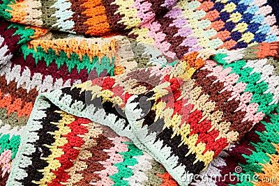 De deken van het macramé