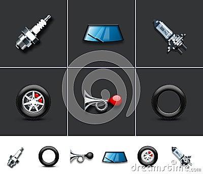 De delen van de auto