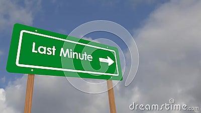 De dernière minute sur le signe banque de vidéos