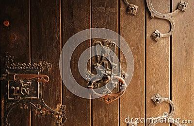 De details van de deur