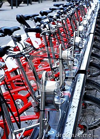 De details van fietsen
