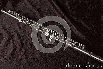 De diagonale mening van de fluit