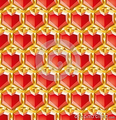 De diamanten van de valentijnskaart