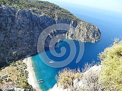De diepe kloof fethiye Turkije van de vlindervallei