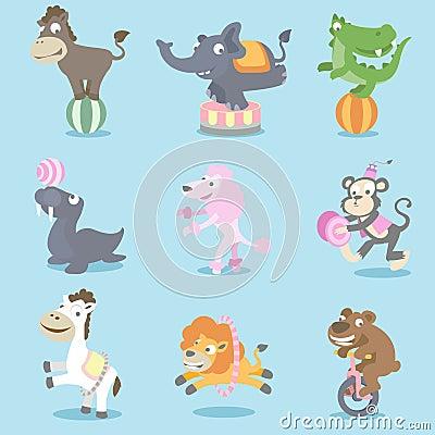 De dieren van het circus