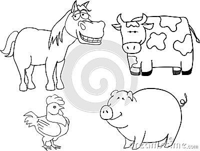 De dieren van het landbouwbedrijf