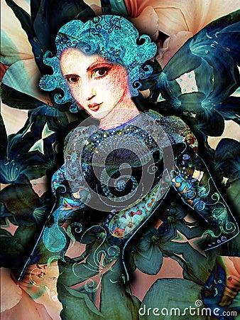 De digitale Abstracte Vrouw van de Kunst