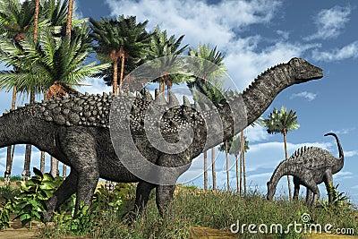 De Dinosaurussen van Ampelosaurus