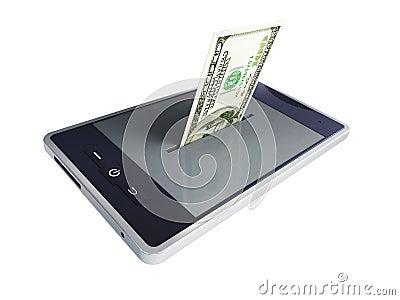 De dollar van de telefoon