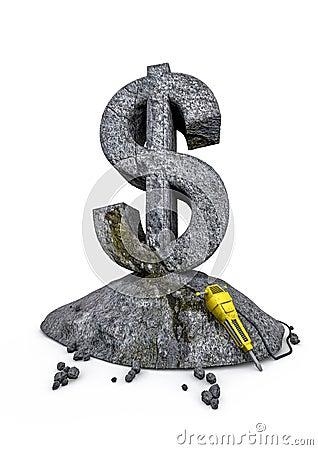 De dollar van het metselwerk