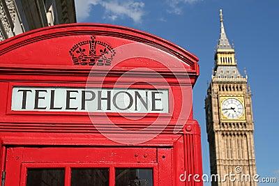 De doos en de Big Ben van de telefoon