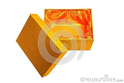 De doos en het deksel van de gift
