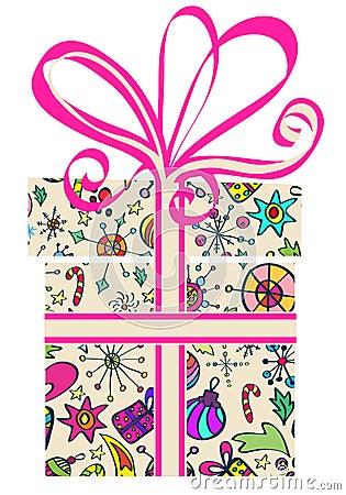 De doos van de gift met vakantiepatroon