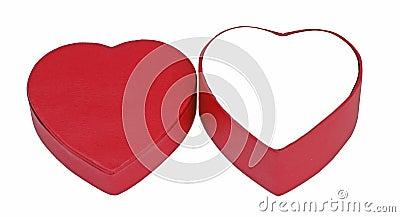 De doos van de valentijnskaart
