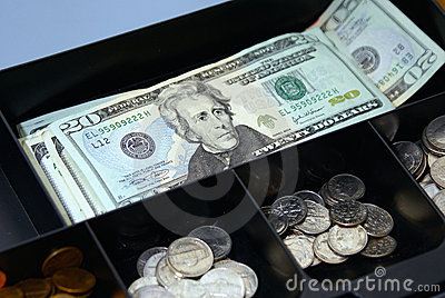 De doos van het contante geld