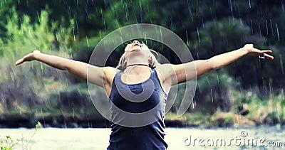 De douche van de regen (zachte nadruk-regen)