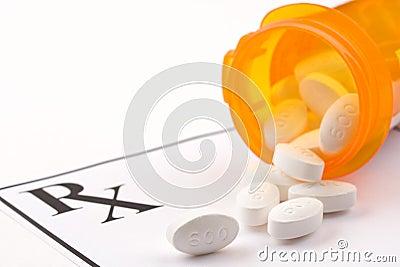 De drug van het voorschrift