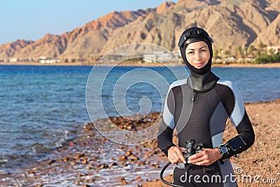 De duiker van de vrouw